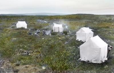 Fra foredragsrekken Landmålerlivet i Finnmark v/Axel Printz : Leir ved Baisjavrre