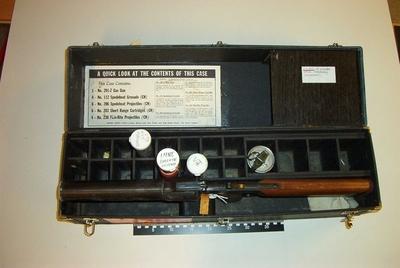 Koffert for gassgevær og ammunisjon