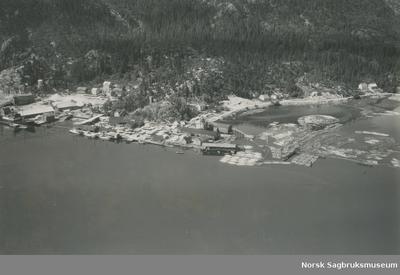 Namdalsbruket A/S 1949 - flyfoto (16515)