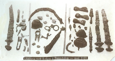 Familiegrava på Løykja