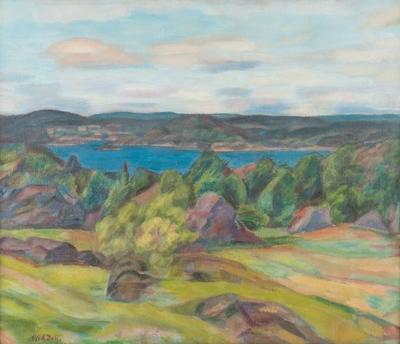 Landskap med fjord
