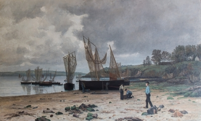 Kystlandskap i Bretagne, 1881