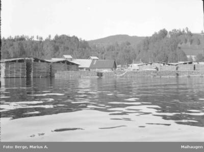 Flom i Mjøsa ved Lillehammer Dampsag