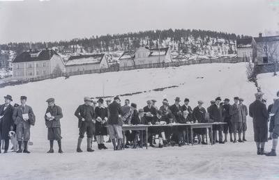 Fra skirenn på Kongsberg 1920-tallet