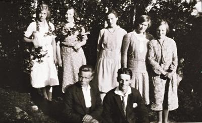 Gruppebilde av ungdommer på Stonglandseidet