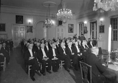 Kongelig Norske Videnskap. selskap fot. festmøte i Katedralskolen