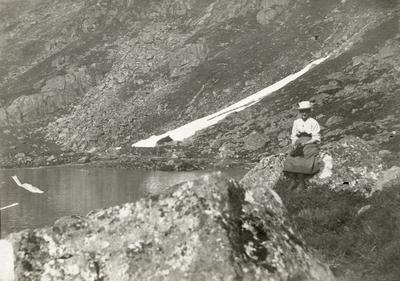 Leonie Petersson på fjelltur