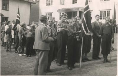 Den første speidertroppen etter krigen på Løkken 17