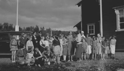 Norske kvinners sanitetsforenings feriekoloni i Repparfjord ca i 1936