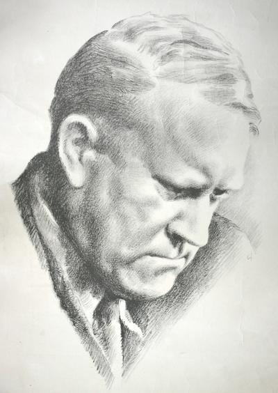Tegning av Quisling