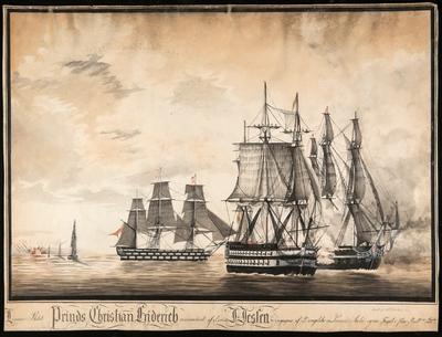 Linnie-Skibet Prinds Christian Friderich commanderet af Capt. D. Dessen [...]