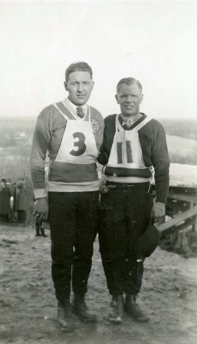 Sigmund Ruud og medkonkurrent i Lake Placid