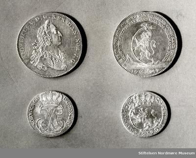 Mynter fra midten av 1700-tallet