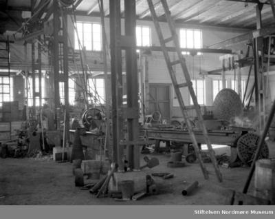 Bildet er fra maskinverkstedet på Storviks Mek