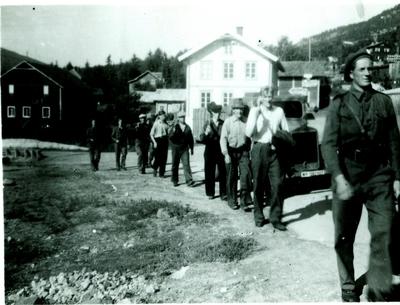 Marsjring av nasistar 1945