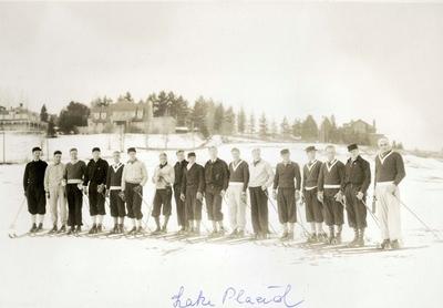 Medlemmer av det norske skilaget til OL i Lake Placid