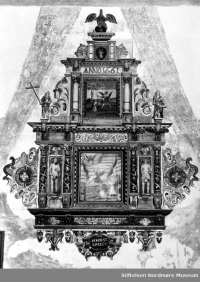 Epitaf fra 1661 i Tingvoll kirke