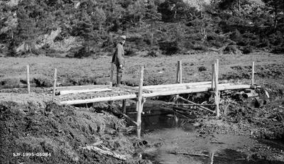 Fra skogrekruttskolen på Ulven i Os i Hordaland sommeren 1932