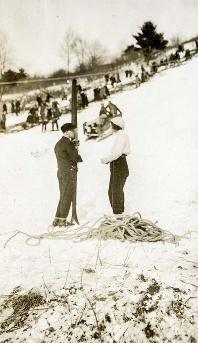 Preparering av hoppbakken i Lake Placid