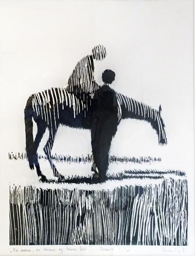 En mann, en kvinne og hennes hest