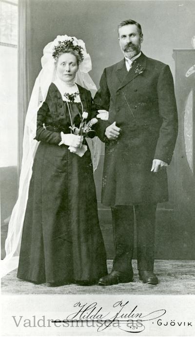 Brudebilde av Johan og Siri Kvål