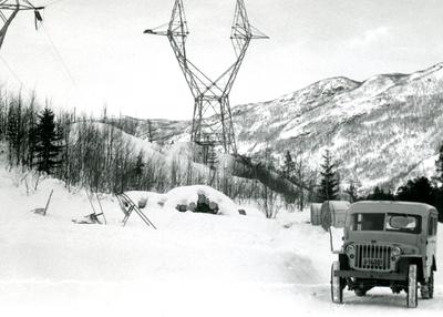 Jeep til Oslo Lysverker reg nr
