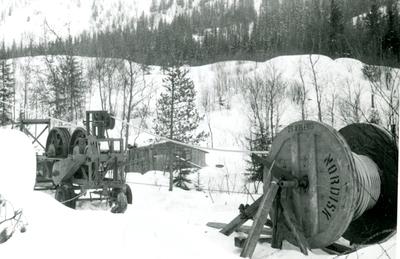 Kabelstrekkemaskin og kabeltrommel til Oslo Lysverker