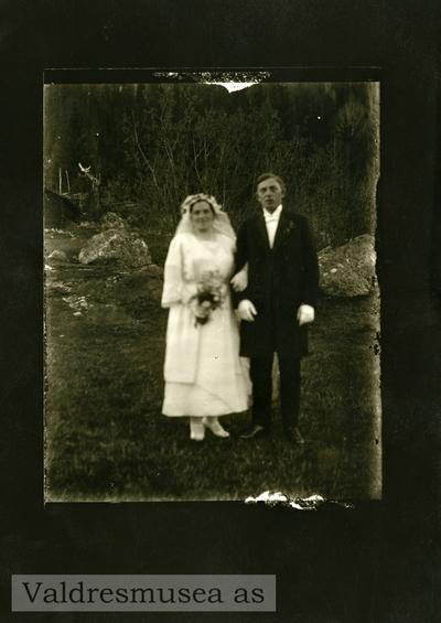 Bryllupsfoto av Engebret og Ingrid Langødegård