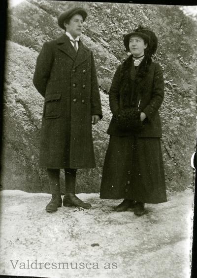 Portrett av Emil Mælum og Gunhild Leite