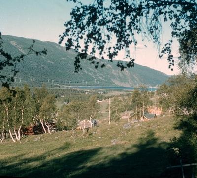 Utsikt mot Holsfjorden fra boliger