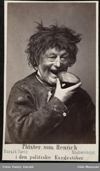 Phister som Heinrich i Den politiske kandestøber.