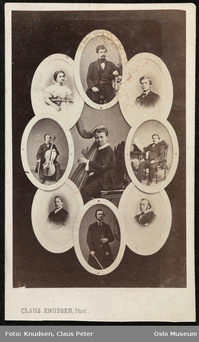 Franz Poenitzm omkranset av norske musikere.