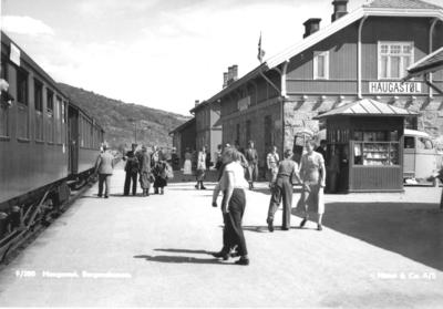 Tog til Bergen på Haugastøl jernbanestasjon