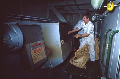 Avfallshåndtering ombord i T/T 'Wind Eagle' (b