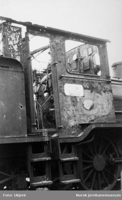 Skadet damplokomotiv type 18