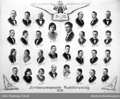 Fotomontasje - Jernbanemisjonens Musikforening