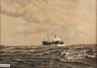 D/S 'Dagali' etter torpedering 20/3 1917