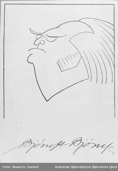 Karikatur, Bjørnson, tegning, Gulbransson,