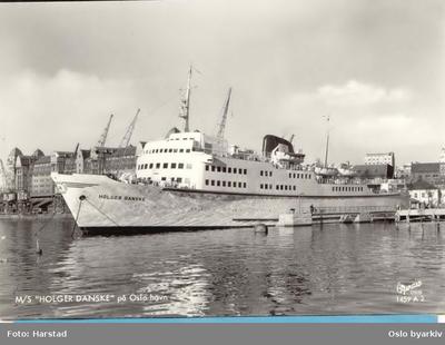 Danskebåten Holger Danske ved kai i Bjørvika