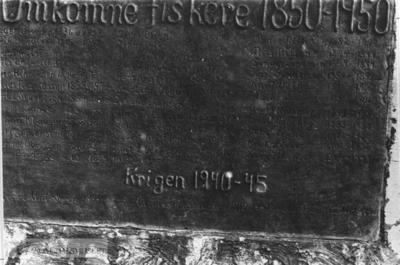 Minnetavle over omkomne fiskere 1850-1950