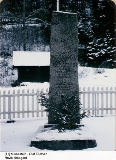 Bauta over Olaf Ellefsen