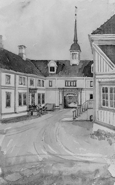 Leangen gård Akvareller (Alstad) ?