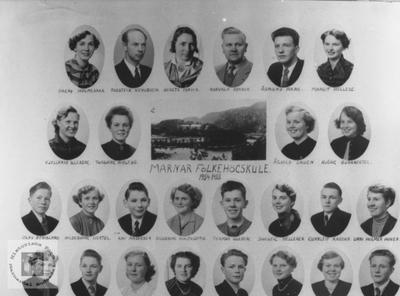 Marnar Folkehøgskole 1954-1955