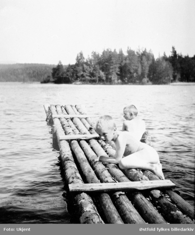Badeliv på Nes i Rømskog 1908