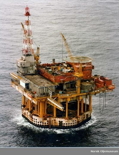 CDP1-plattformen med boretårn
