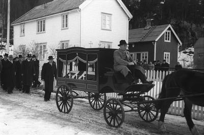 Johan Nygårdsvolds begravelse i Hommelvik