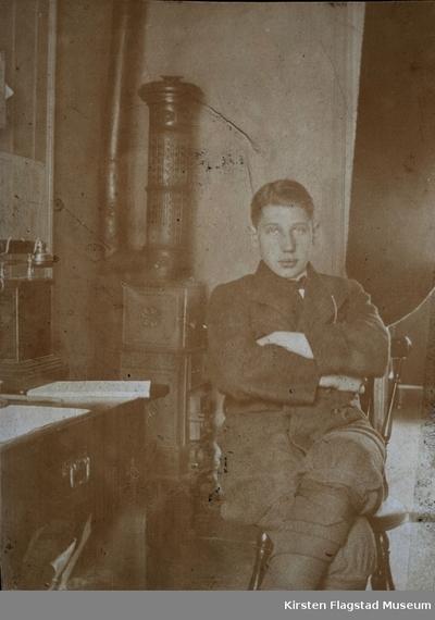 Kirsten Flagstads bror Ole Flagstad i sitt hjem Villa Furua på Vinderen 1903
