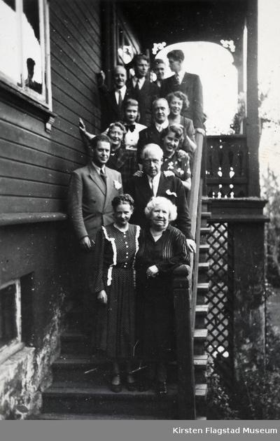 Stort selskap hos Kirsten Flagstads bror Ole Flagstad på Villa Furua på Vinderen