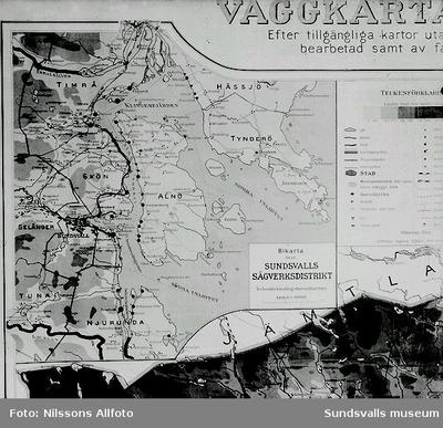 Karta över Sundsvalls Sågverksdistrikt.