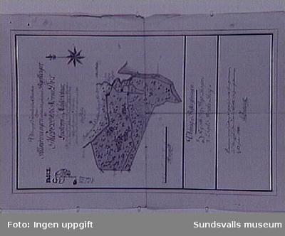 Karta över Lögdö bruk samt Rii, Lunne by och Svedje byar, av Peter Abr Fougt.